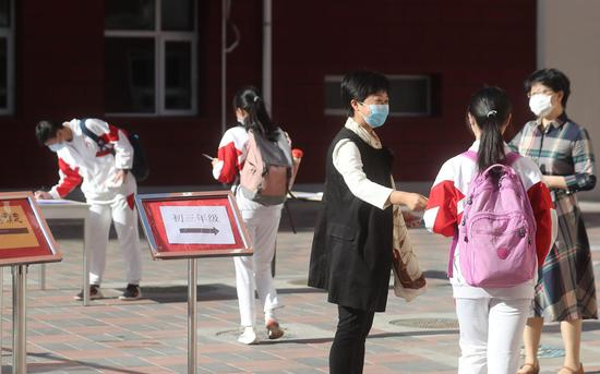5月11日起,北京市初三年级复课。新京报记者 王贵彬 摄