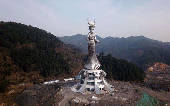 贵州剑河88米巨型雕塑投资方为当地国企图片
