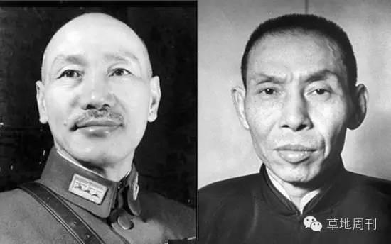 蒋介石与杜月笙(来源:网络)