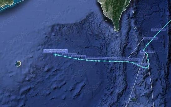 """8月25日,""""挑战者650""""侦察机飞行轨迹(图源:SCSPI平台)"""