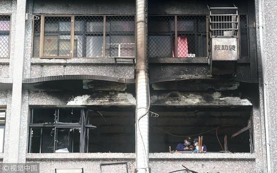 (台湾医院大火致9死 图源:视觉中国)