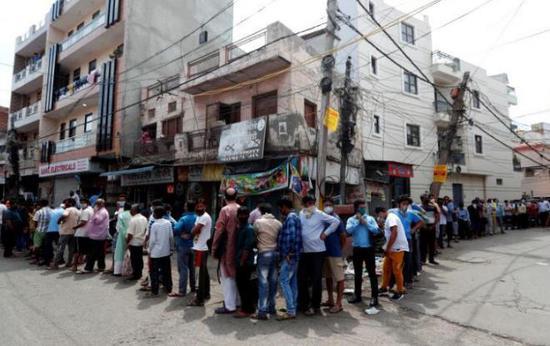印度新增6535例新冠肺炎确诊病例 累计逾14万例