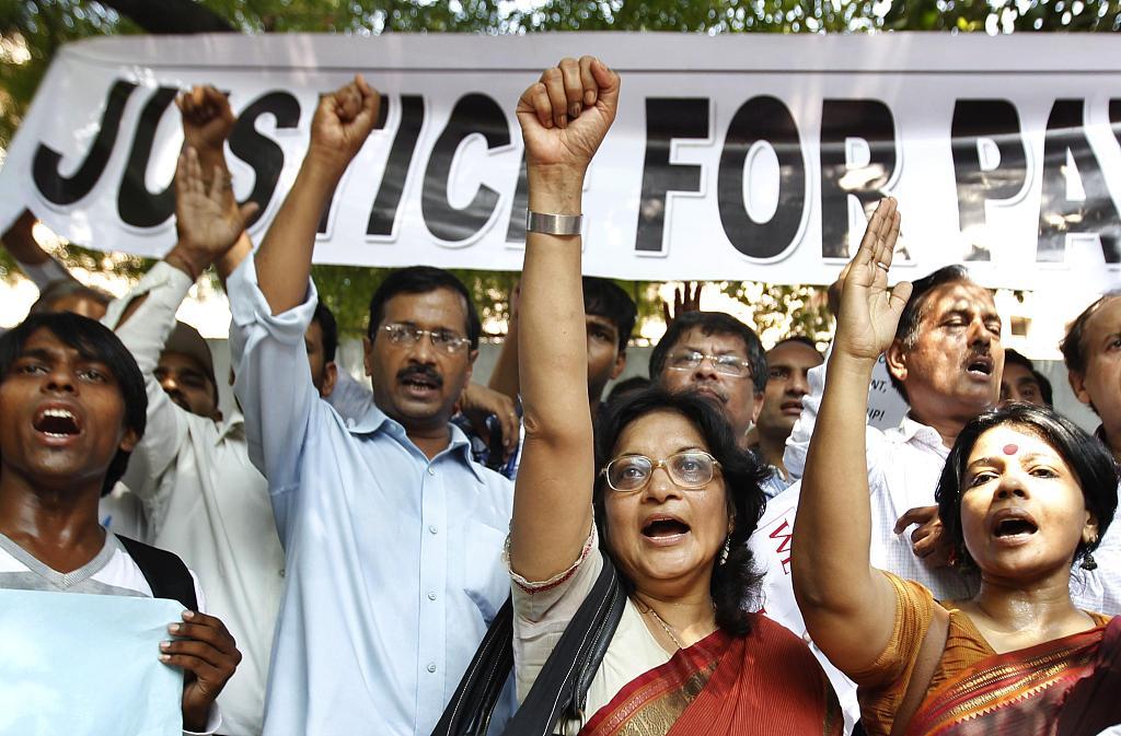 印度民众游行抵制性侵