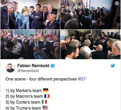 不同国家发布的不同视角的照片,被认为是缺乏统一、协作精神的表现