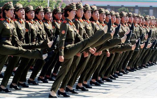 9月9日,朝鮮在平壤舉行盛大閱兵式,慶祝建國70週年。圖/視覺中國