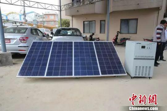 ▲资料图片:2018年1月,中国向尼泊尔赠送32000余套太阳能户用光伏发电系统。