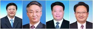 △从左至右:陈吉宁、张国清、唐一军、景俊海。