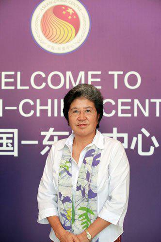 中国—东盟中心秘书长杨秀萍(刘嵘摄影)