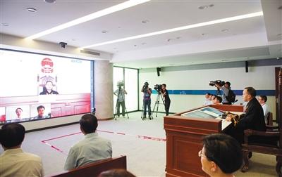 2017年8月18日,杭州互联网法院成立,当日审理一件涉及侵害作品信息网络传播权的纠纷案件。新华社发