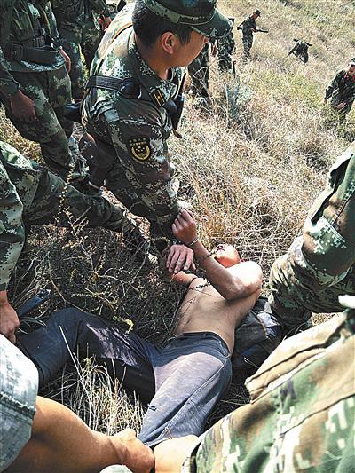 2017年5月2日,服刑中的张林苍越狱,八天后在嵩明县小药灵山被捕。昆明警方供图
