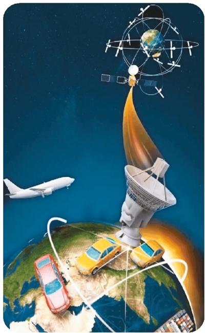 北斗导航系统全球组网(示意图)