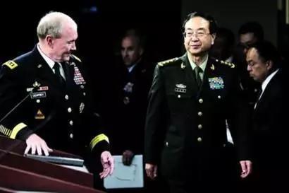 △2014年5月15日,时任中国人民解放军总参谋长的房峰辉造访美国五角大楼。