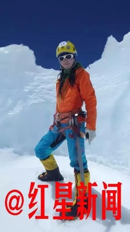 ▲首位成功登山珠峰的新疆女性麥子 本人供圖