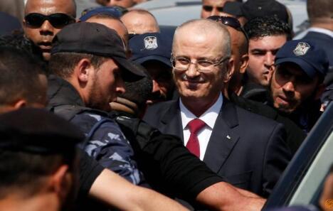 图为巴勒斯坦总理