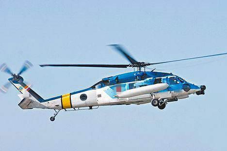 "S-70C""海鸥""直升机。(台媒资料图)"