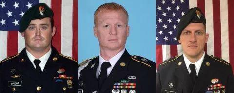 证实遇难的三名美军特种兵
