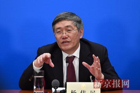 全国政协委员、中央财经领导小组办公室副主任杨伟民。新京报记者 陶冉 摄