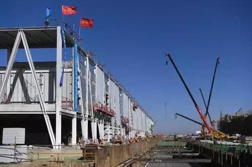 雄安市民服务中心项目施工现场