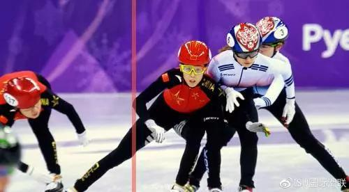 △国际滑联认为:中国队员从外道强切入内道