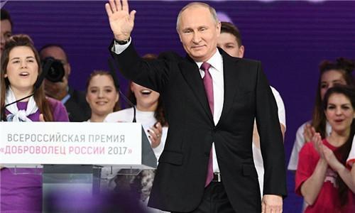 俄总统大选将至 民调:74%俄罗斯人支持普