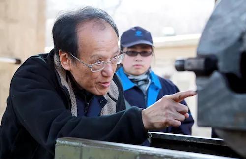 2017年3月10日王泽山院士在辽阳试验场 朱志飞摄