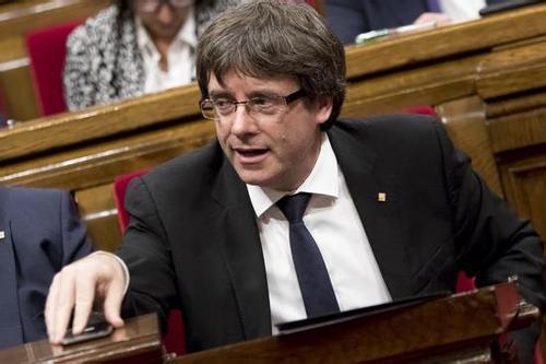 图为西班牙加泰罗尼亚自治区前领导人普伊格德蒙特