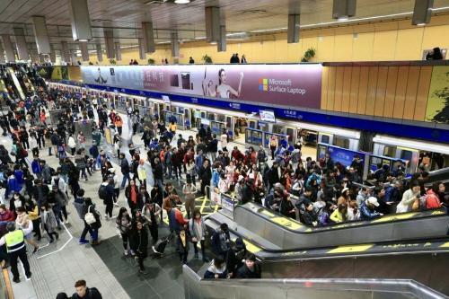 """台北捷运。(图片来源:台湾""""联合新闻网"""")"""