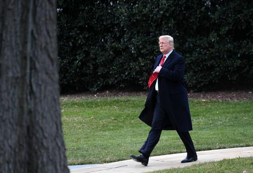 资料图片:美国总统特朗普。新华社记者 殷博古 摄