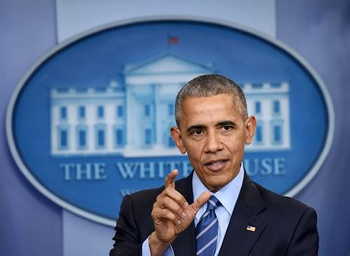 资料图片:奥巴马在白宫举行发布会。新华社记者殷博古摄
