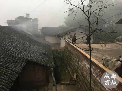 中间白色土墙的房子,就是赵平安一家的居所。