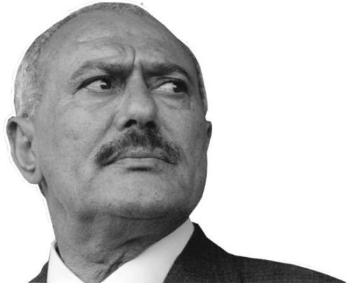 图为也门前总统萨利赫