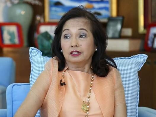 菲律宾前总统阿罗约接受采访(图源:CNN)