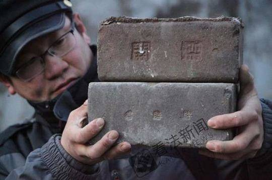 澳门银河网站:京张铁路沿途现罕见文字砖_疑似出自民国时期
