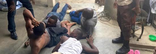 ▲易卜拉希马和叔叔当场被捕 图据BBC