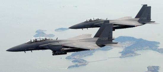 资料图:韩国空军F-15K战斗机