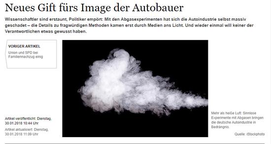(《沃尔夫斯堡汇报》:汽车制造商形象的新毒药)