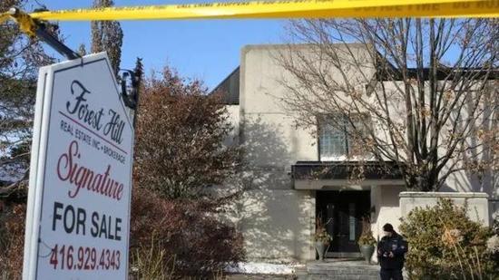 ▲舍曼夫妇的尸体被发现在多伦多家中。图据路透社