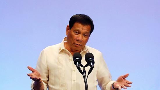 菲律宾总统杜特尔特(图来自今日俄罗斯电视台)