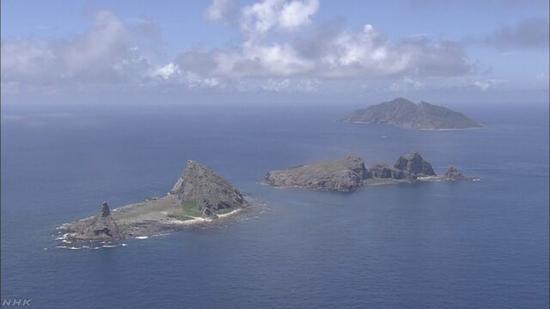 中国钓鱼岛(来源:日本NHK新闻)