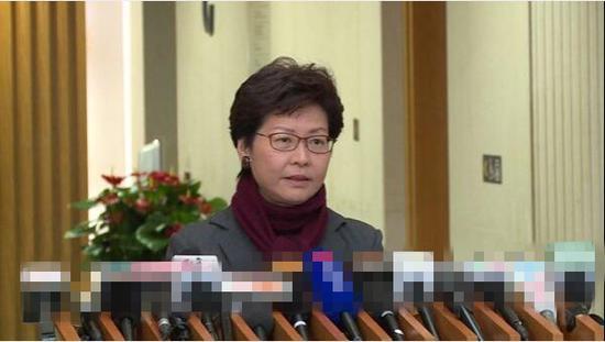 林郑月娥:香港公职人员必须拥护《基本法》效忠特区(图片截自香港政府新闻网)
