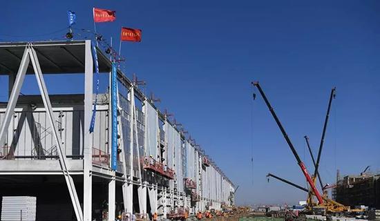 项目建设现场。
