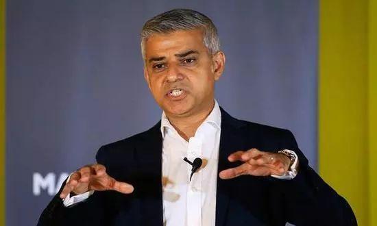 ▲伦敦市长萨迪克·汗