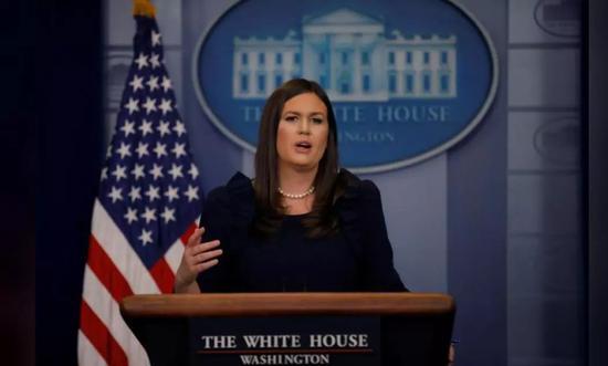 白宫发言人萨拉·桑德斯