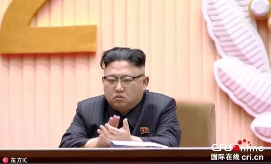 △今年2月15日,金正恩出席中央报告大会