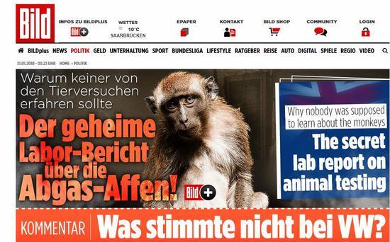 (《图片报》:关于尾气-猴子的秘密实验报道)