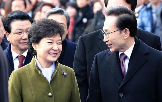 朴槿惠与李明博