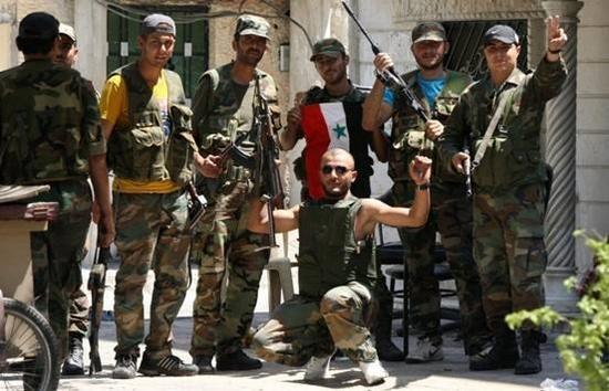 图为在叙利亚作战的伊朗革命卫队军人