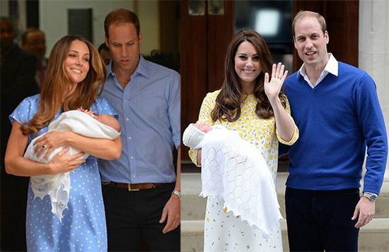 凯特王妃于2013年和2015年分别诞下一位小王子和一位小公主。
