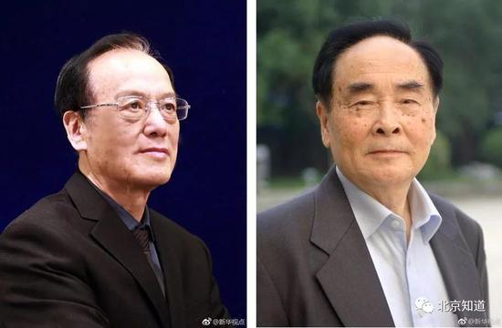 王泽山(左)和侯云德(右)。图片来源:新华视点