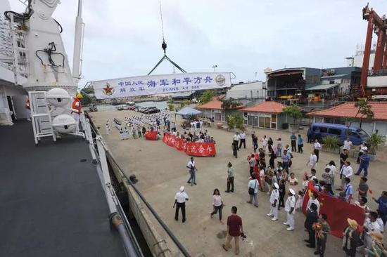 △和平方舟首次停靠斯里兰卡科伦坡港